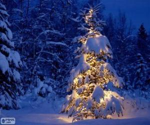 Układanka Boże Narodzenie drzewo