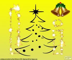 Układanka Boże Narodzenie i litera I