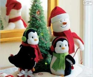 Układanka Boże Narodzenie lalek