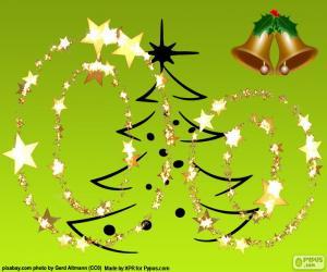 Układanka Boże Narodzenie litera O