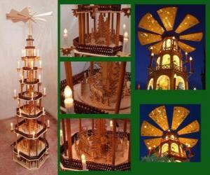 Układanka Boże Narodzenie piramidy