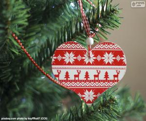 Układanka Boże Narodzenie Serce
