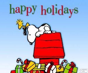 Układanka Boże Narodzenie Snoopy