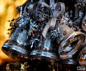 Układanka Boże Narodzenie srebrne dzwony