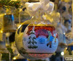 Układanka Boże Narodzenie szkła piłkę