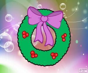 Układanka Boże Narodzenie wianek