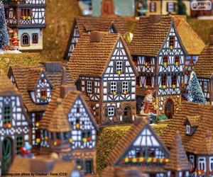 Układanka Boże Narodzenie wieś