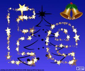 Układanka Boże Narodzenie z literą E