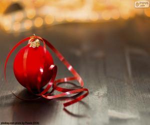 Układanka Bożonarodzeniowa piłka i taśma