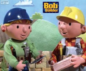 Układanka Bob Budowniczy i jego partner Marta organizację pracy w dniu