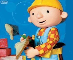 Układanka Bob budowniczy pracy