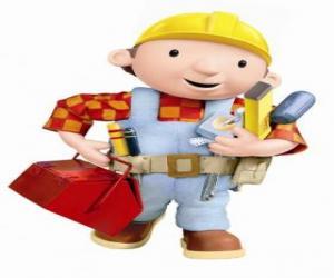 Układanka Bob Budowniczy z jego narzędzi