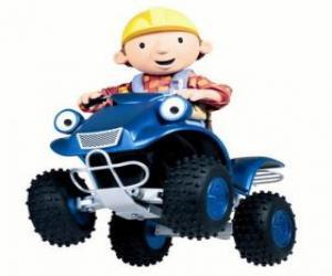 Układanka Bob i Scrambler, quad lub ATV