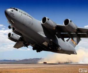 Układanka Boeing C 17 Globemaster III wojskowych samolotów transportowych