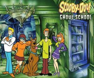 Układanka bohaterów Scooby-Doo