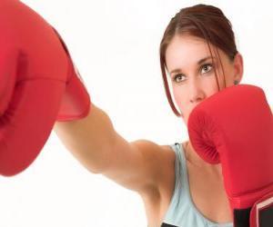 Układanka Boks - Twarz boksera
