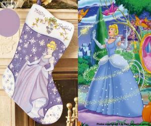 Układanka boot Christmas Cinderella