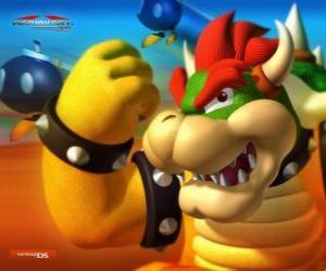 Układanka Bowser Koopa lub King, głównym wrogiem w grach Mario