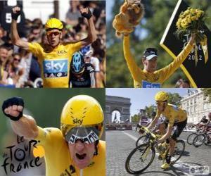 Układanka Bradley Wiggins zwycięzca Tour de France 2012