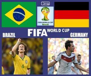 Układanka Brazylia - Niemcy, półfinał, Brazylia 2014