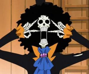 Układanka Brook, muzyk szkielet z One Piece