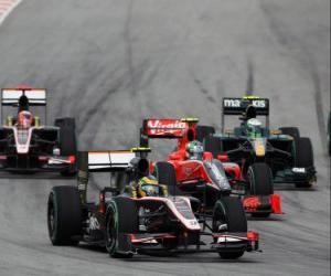 Układanka Bruno Senna - HRT - Sepang 2010
