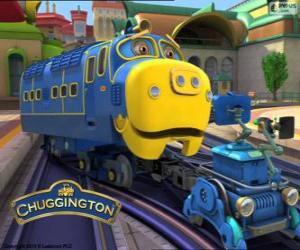 Układanka Bruno, silne lokomotywa Diesla elektryczna z Chuggington