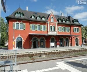 Układanka Budynek dworca