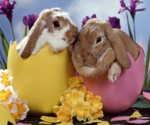 Układanka Bunnies w jaja wielkanocne