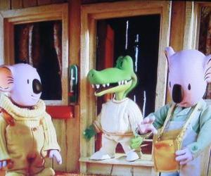 Układanka Buster i Frank wraz ze swoim przyjacielem Archie krokodyla