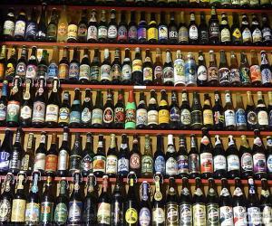 Układanka Butelek piwa