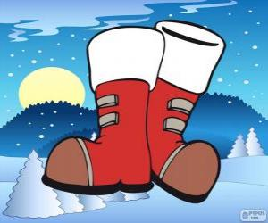 Układanka Buty Święty Mikołaj