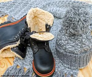 Układanka Buty zimowe czarne