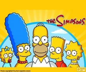 Układanka Cała rodzina Simpsonów