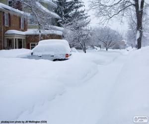 Układanka Całkowicie śnieg ulicy