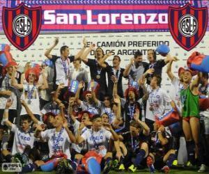 Układanka CA San Lorenzo de Almagro, mistrz Torneo Inicial 2013, Argentyna