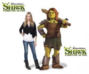 Układanka Cameron Diaz stanowi głos Fiona, wojownik, ostatni w filmie Shrek Forever
