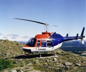 Układanka Canadian śmigłowiec Bell 206
