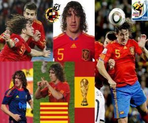 Układanka Carles Puyol (szef Hiszpania) Hiszpański zespół obrony