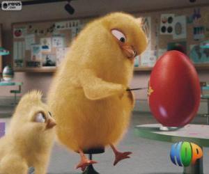 Układanka Carlos i Phil malowanie jaj