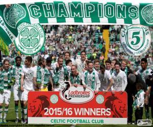 Układanka Celtic FC mistrz 2015-2016