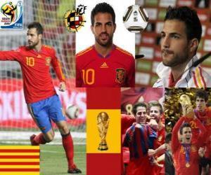 Układanka Cesc Fabregas (Barcelona jest przyszłość) Hiszpański pomocnik reprezentacji narodowej