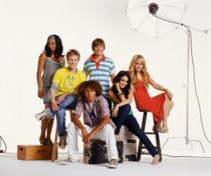Układanka Chad (Corbin Bleu), Taylor (Monique Coleman) Gabriella Montez (Vanessa Hudgens) Troy Bolton (Zac Efron), Sharpay Evans (Ashley Tisdale), Ryan Evans (Lucas Grabeel)
