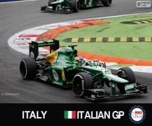 Układanka Charles Pic - Caterham - Monza, 2013