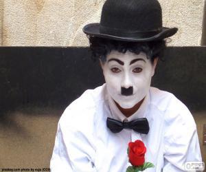 Układanka Charlie Chaplin odtwórca