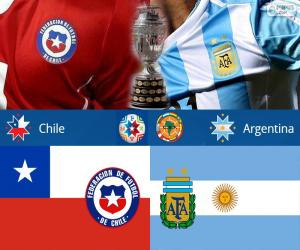 Układanka CHI - ARG, finałowy Copa America 2015