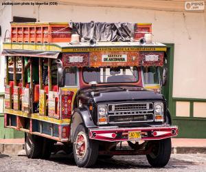 Układanka Chiva autobus