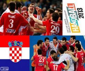 Układanka Chorwacja, brązowy medal mistrzostw świata w piłce ręcznej 2013