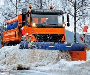 Układanka Ciężarówka Pług śnieżny