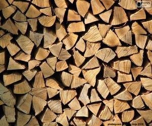 Układanka Cięcie drewna
